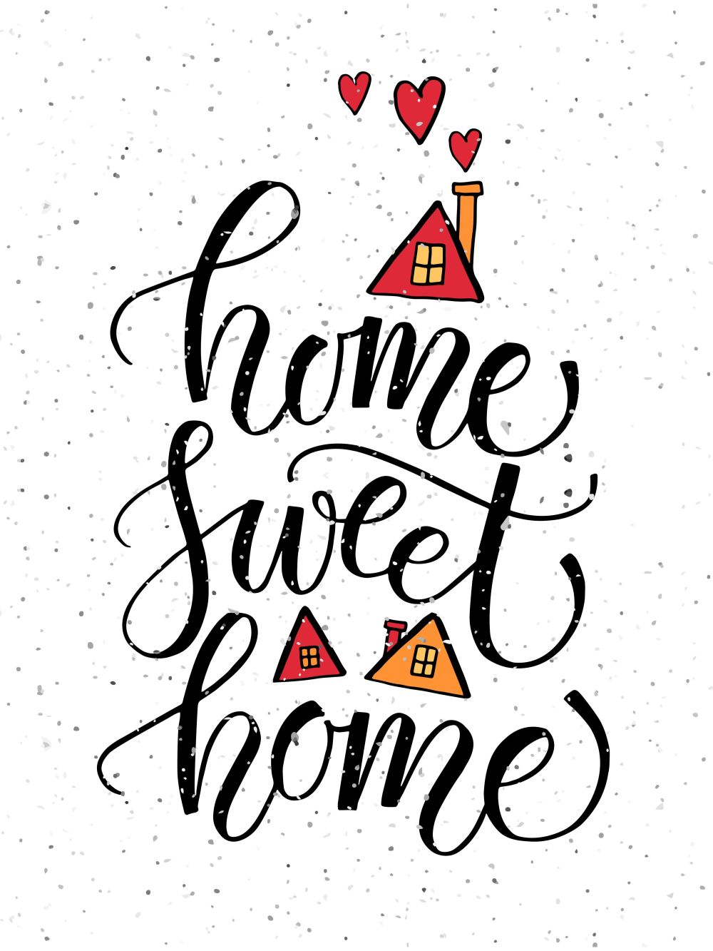 Home Sweet Home Typography Poster by Svetlana Kurako on @creativemarket